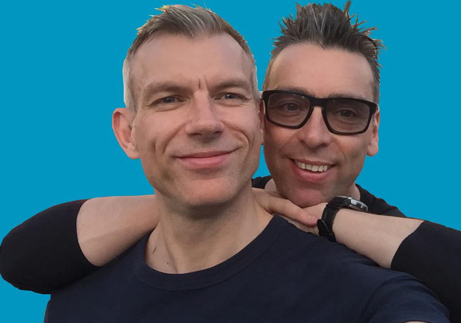 Stuart Bramley and Richard Eminson of Dick's Dustbusters